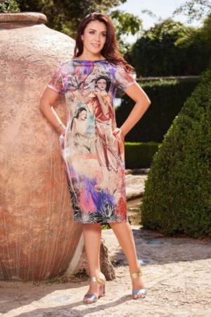 Rochie din mătase naturală satinată prevăzută cu buzunare