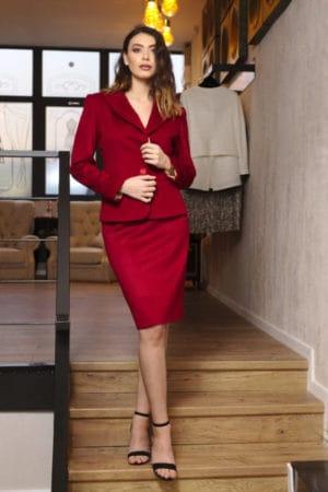 Costum din stofă de lână și cashmere