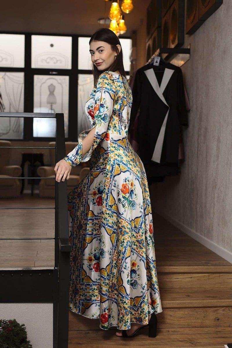 Rochie lungă din mătase naturală II