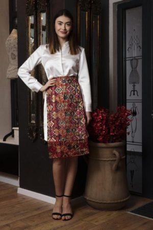 Rochie din tafta cu fotă