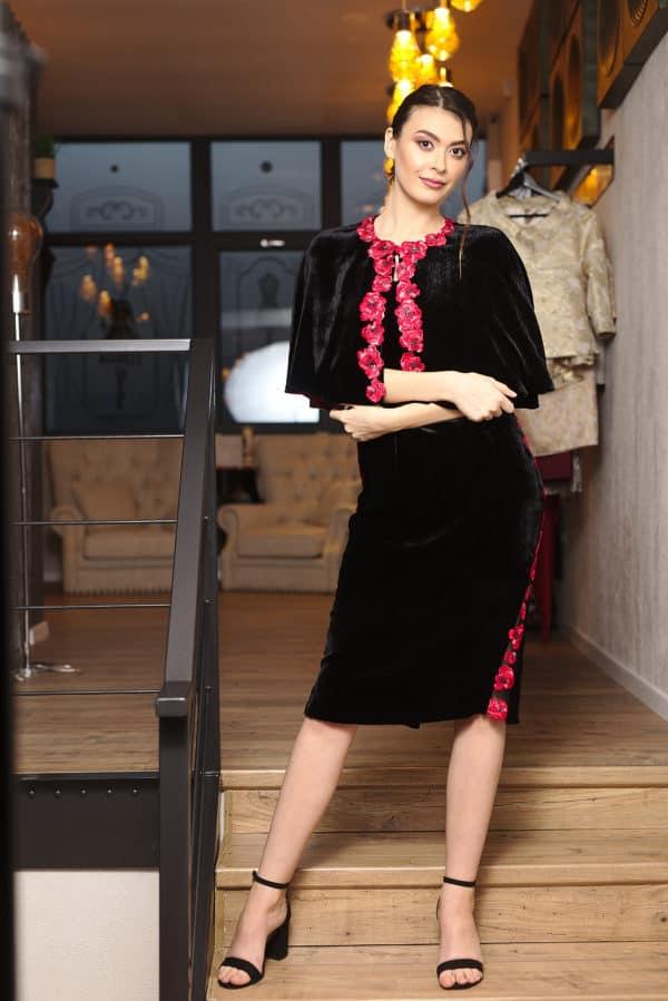 Rochie din catifea negară