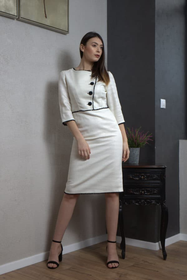 Rochie din stofă albă