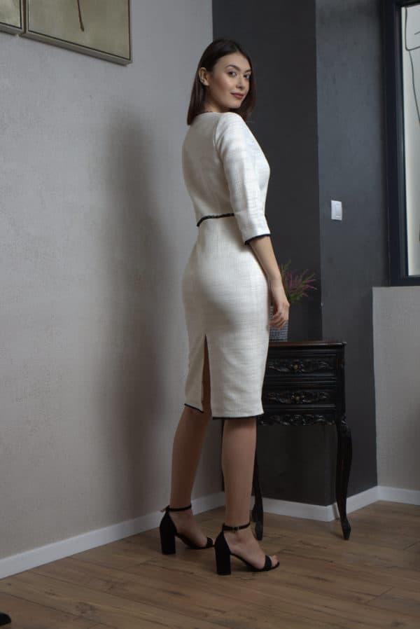 Rochie din stofă albă III