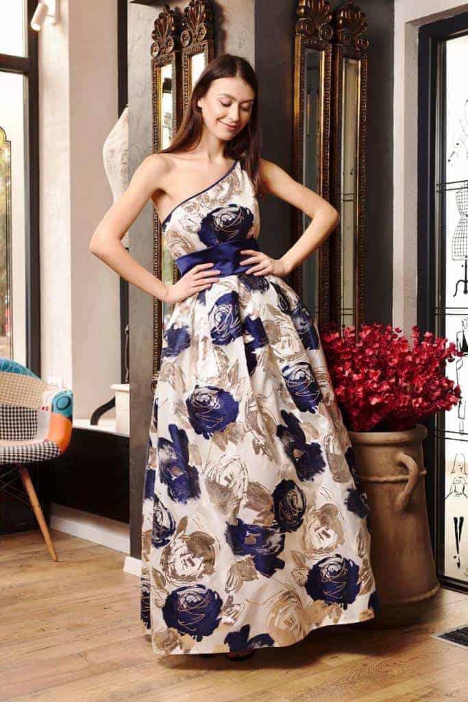 Rochie lungă din organza de mătase naturală