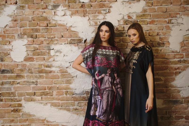 Rochie din mătase naturală imprimată IV