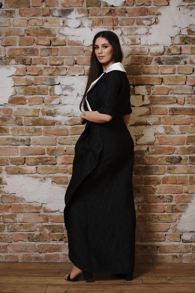 Rochie lungă din brocart grofrat I
