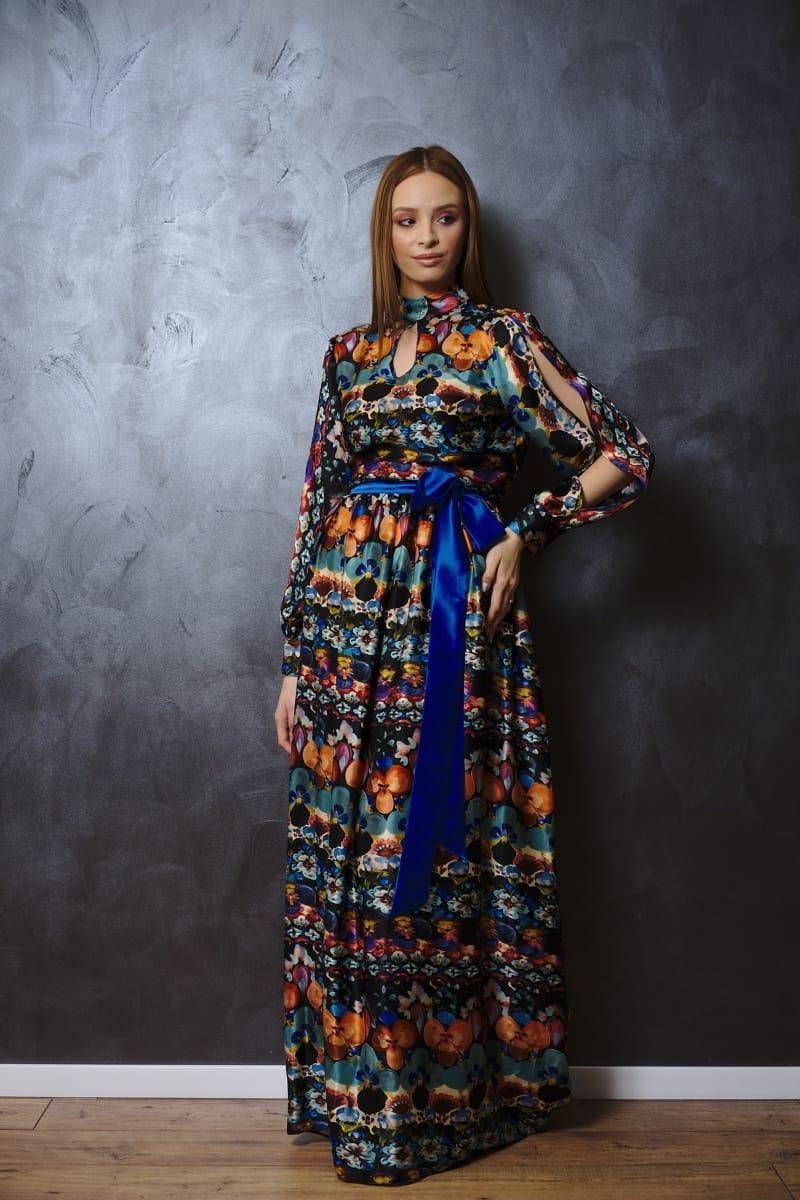 Rochie lungă din mătase naturală I