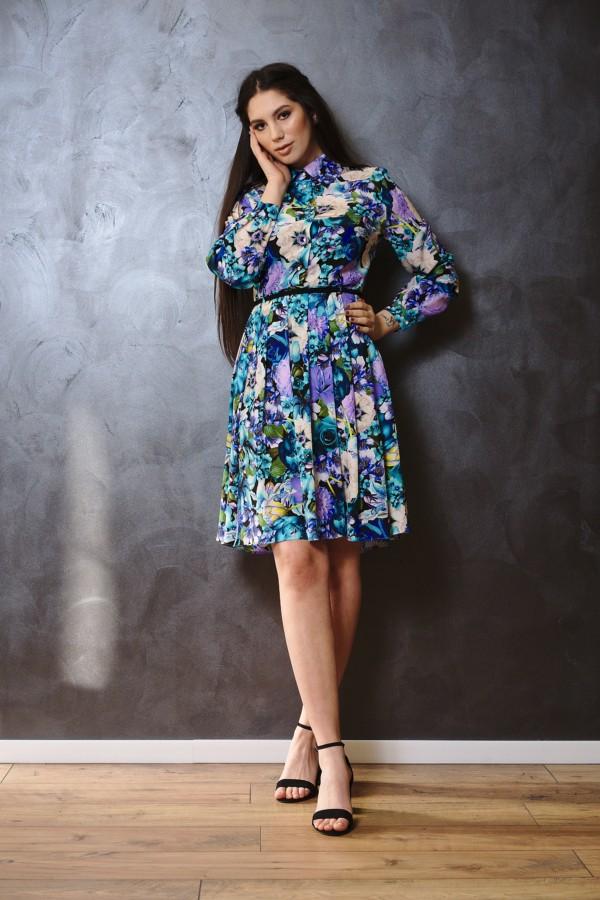 Rochie scurtă din mătase naturală