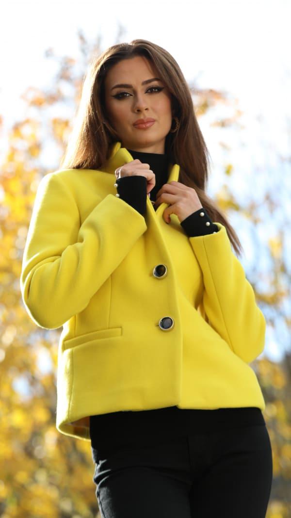 Jachetă din stofă de lână